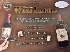 Wine Labels/Tags ~ Personalised ~ ALEX ~ Unique Novelty Gift