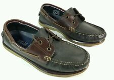 M & S two tone leather boat shoes uk 8 Eu 42
