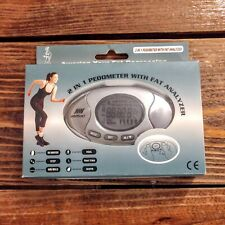 LCD 2 in 1 Digital Pedometer Calorie Step Counter Body Fat Analyzer Clock Alarm