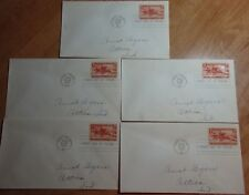 LOT OF 5 FIRST DAY OF ISSUE TO COMMEMORATE PONY EXPRESS 80TH ANNIVERSARY # 894