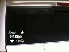"""Proud Marine Family car decal vinyl sticker 6""""A44 armed forces patriotic soldier"""