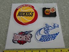 Vintage ABA Houston Rockets Patches and Pins 5 pc Lot  Old School Free Shipping