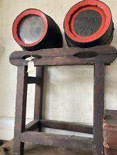More details for 2x antique truman brewery wood cask barrels & tilt racking stand maybe 1 off