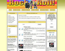Rock Music Youtube Video Affiliate Website for Sale.  Amazon Store
