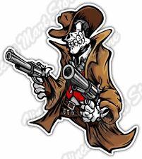 """Outlaw Gun Pistol Texas Back Off Car Bumper Vinyl Sticker Decal 4X5"""""""