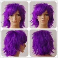 Halloween Cosplay Wig Long Curly Straight Synthetic Hair Full Head Hair Wigs