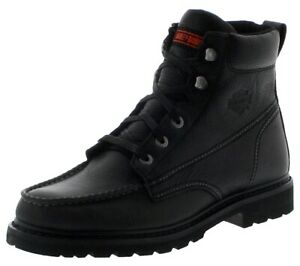 Harley Davidson Mens Markston CE Approved Motorcycle Boots Black D97130