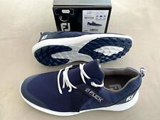 FootJoy Flex Zapatos de Golf Azul / Blanco UK 9.5 Mediana - Ex Display