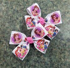 Lot of 2 Belle ariel snow white princess hair bow baby girl nonslip clip