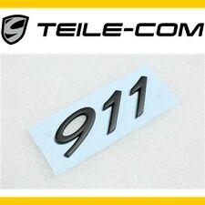 """NEU+ORIG. Porsche 911 991 GTS Schriftzug / Logo """"911"""" Schwarz/black /Motorhaube"""