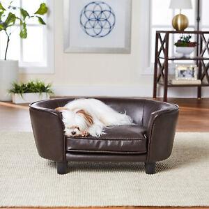 Enchanted Home Pet Coco Pet Sofa - Pebble Brown