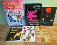 6 Bücher Zauberei zaubern Magie Copperfield & Co Tricks Buchpaket Sammlung