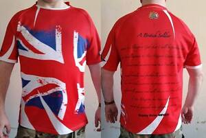 British Army Red Union Flag Jack Oath of Allegiance Rugby shirt, Army v Navy,AvN