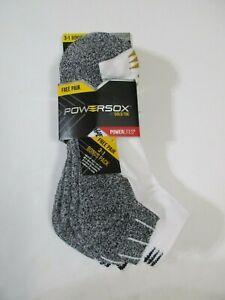 4 Pair Mens Gold Toe Powersox Arch Athletic Low Cut Large Socks~Shoe Size 9-12