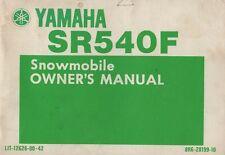 1982 YAMAHA  SNOWMOBILE SR540F OWNER'S MANUAL 12628-00-42 (035)