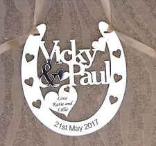 Personalised Couples Horseshoe for Wedding Anniversary Engagement Celebration