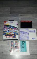 Sega Master System Spiel Sonic 2 komplett EU Version.
