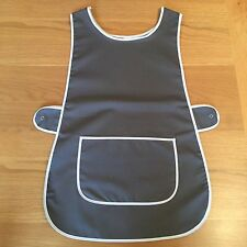 Wholesale Job Lot 6 Grey White Tabards Aprons Cafe Catering Tea Room Work Wear