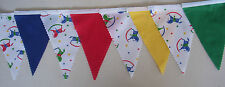 Rocking Horses & coloured Fabric Bunting Bedroom Decoration  Baby shower Gift