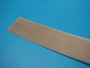 (1) TEMP-FLEX F2607B-20-050-N M49055/11-21 FEP HIGH TEMP FLAT RIBBON CABLE 20C