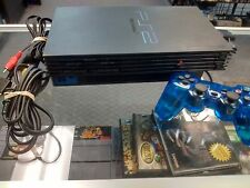 Playstation 2 Console System Fat Black PS2 W/ Cords-------