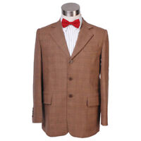 Doctor Who 11th Doctor Cosplay Costume Men Jacket Plaid Blazer With bow Tie