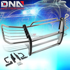 FOR 03-07 SILVERADO 1500HD/2500 BLACK COATED MILD STEEL FRONT GRILL GUARD FLAME