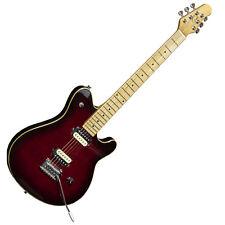 EVH Wolfgang Style Electric Guitar Gould GS-72 Burgundy Burst Zebra Humbuckers