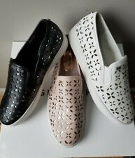 Michael KORS KEATON MK LOGO LASERED CUT OUT PULL ON SKATE SNEAKERS I LOVE SHOES