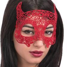 Mujer Rojo Encaje Devil Ojo Máscara para Disfraz de Halloween Baile de Máscaras
