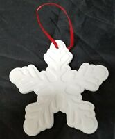 Snowflake Christmas Ornament Ganz, Time & Again Ceramic Infused Holiday Tree