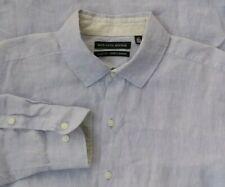 Saks Fifth Avenue 100% Linen Long Sleeve Lavender Button Up Shirt Men's Sz L
