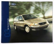 2003 Ford Windstar Showroom Sales Booklet Dealership Catalog Car Auto USA