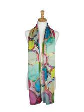 AamiraA Abstract Circle Mulberry Chiffon Silk Stole Women Scarf Free Shipping