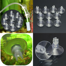 10x Aquarium Fish Tank Suction Cup Sucker Holders For Air Line Tube Hose Pump