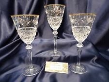 Cris d'Arques Durand TRADITIONS GOLD Wine Goblet Set of Three