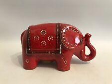 Designer Keramik Spardose Figur Roter Elefant Italy Bitossi Piggy Bank Money Box