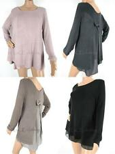 Unbranded Women's Semi Fitted Long Sleeve Sleeve Waist Length Tops & Shirts