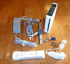 White Nintendo Wii Console w/ 128GB USB and 32GB SD Motion Plus Wiimote