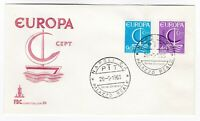 Italy 1966 Europa Cept Boat FDC Napoli Cancel Stamp first day Cover post history
