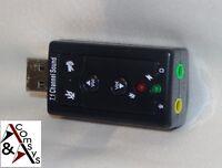 USB SOUNDKARTE 7.1 3D Sound Audio Adapter Kopfhörer Headset Super Soundqualität