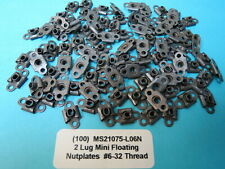 (100) #6-32 Floating Mini Nutplate Locking Anchor Nut Plate Ms21075L06N Aircraft