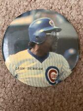 Leon Durham Chicago Cubs Wrigley Ballpark Button Vintage MLB Baseball Pin