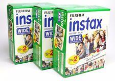 Fuji Instax Film Wide für Instax Wide 210, 300 etc., 3x 20 Stück bundle