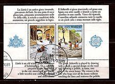 """SAN MARINO bloc 1989: jeux d'enfant """" La Marelle"""" """"Liscia"""" belle côte  241M-C47"""
