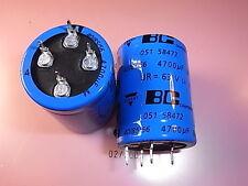 Mal205158472e3 4700uf 63v aluminum capacitors Elko Vishay 30 x 40mm 4pin