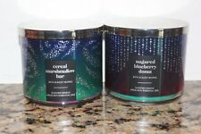 Bath & Body Works Cereal Marshmallow & Sugared Blueberry Donut 3 Wick Candles