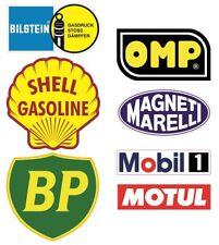 7x Shell Aufkleber Retro Vintage Oldtimer Rally Racing V8 KULT UK BP ÖL OMP #875