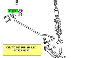 GENUINE MITSUBISHI FTO REAR ANTIROLL ARB BAR BUSH KIT (FOR 17mm BAR)