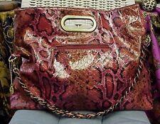 BIG BUDDHA designer snakeskin faux leather handbag/shopper/satchel/purse/tote